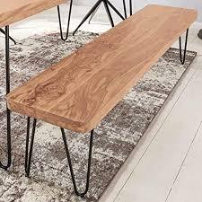 finebuy möbel zum wohlfühlen sitzbank 180 x 40 cm harlem akazie holz bank für esstisch massiv küchenbank massivholz essbank ohne lehne für