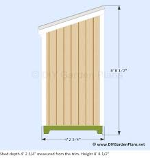 plans for a 4 u0027x8 u0027 lean to shed