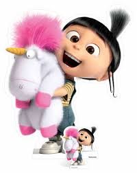 Agnes And Fluffy Unicorn Despicable Me 3 Cardboard Cutout Standee Stand Up