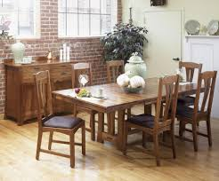 AAmerica Cattail Bungalow 7 Piece Trestle Table Dining Set W 6 Side Chairs