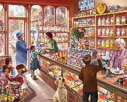 Old Candy Store People Jigsaw Puzzle