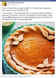 Storing Pumpkin Pie by Chef Chloe Pumpkin Pie Easy Vegan Desserts Pinterest Chef