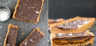unwiderstehliche schokoladentarte mit keksboden und karamell ohne backen