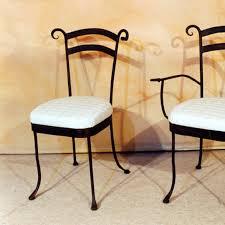 chaise d interieur en fer forgé modèle flore fabrication