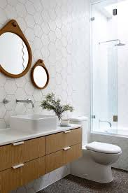 39 stylish hexagon tiles ideas for bathrooms digsdigs