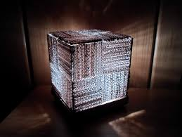 Laser Cut Lamp Shade by Diy Learn How To Make A Cool Cube Lamp Using Recycled Corrugated