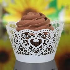 Banggood 50pcs White Butterfly Cake Cupcake Wrappers Wraps Cases Wedding Laser Cut