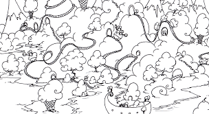 Free Printable Coloring Page Of A Penguins On An Island Made Ice Cream