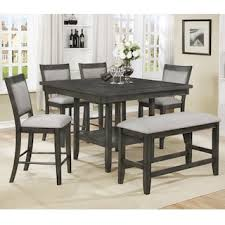 Claremont Fulton 6 Piece Dining Set In Gray