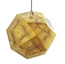 tom dixon etch shade gold pendant replica lights