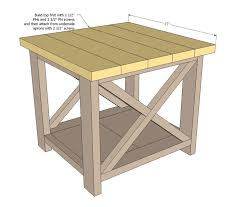Free Rustic End Table PlansFree Plans For Makin