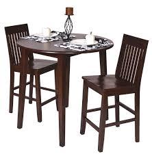 Amaretto (Brown) Finish Wood 36H Round Dining Bistro Table & 2 Pub ...