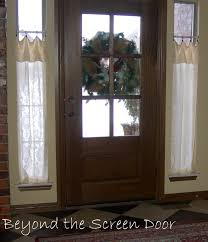 Front Door Side Window Curtain Panels by Curtains For A Glass Front Door Decorate The House With