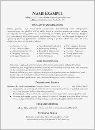 Resume Examples 0d Information Sample