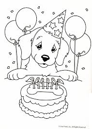 Dog Coloring Pages Printable Page Lisa Frank