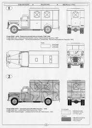100 4x2 Truck Praga RND 3t Truck Shop Van CMK RA027