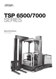 100 Crown Turret Truck VNA Forklift TSP 65007000 Series CROWN PDF Catalogs Technical