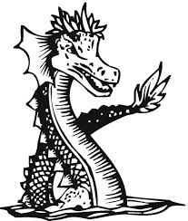 Sea Serpent Dragon Coloring Page