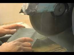 cutting glass tile with saw cutting glass with a saw