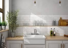 stylish white kitchen wall tiles put brick metro tiles on your