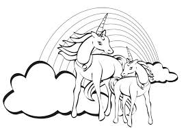 Unicorn With Wings Coloring Pages Together Printable For