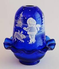 Vintage Fenton Fairy Lamps by Clarke Verre Moire Centerpiece Fairy Lamp Fairy Lamps Lights
