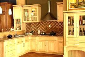 Pine Kitchen Cabinet Airy Kitchen With Unfinished Pine Cabinets