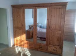 komplettes schlafzimmer echtholz bett schrank kommode nachttisch
