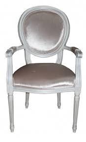 casa padrino barock esszimmer stuhl mit armlehne beige weiß silber designer stuhl luxus qualität gh