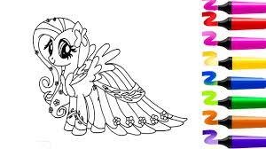 Coloriage My Little Pony Fluttershy Coloriage MAGIQUE Dessin