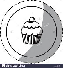silhouette emblem muffin icon