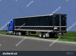 Truck 18 Wheeler Blue Black Gray Stock Photo (Edit Now) 1399018 ...