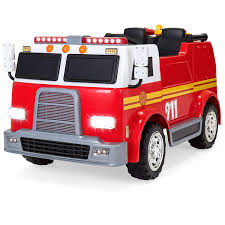 Amazon.com: Best Choice Products 12V Kids Fire Engine Truck Ride On ...