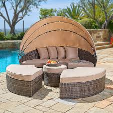 100 Retractable Patio Chairs Amazoncom SUNCROWN Outdoor Round Daybed With