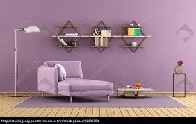 lizenzfreies bild 22636759 lila wohnzimmer mit chaiselongue