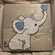 Nursery Order From Kiwistrings On Etsy Elephant Canvas Art Ideas For Teenagers Elephants String