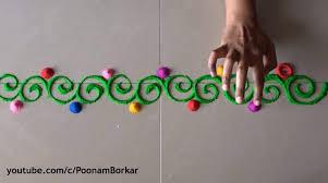 Diwali Special Easy Border Rangoli DesignsInnovative Designs By Poonam Borkar