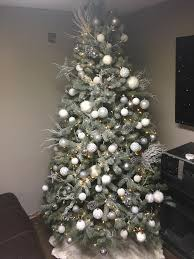 Christmas Tree 1 2 Is Going Up This A Winter Wonderland ThemeI Did The Snow Myself