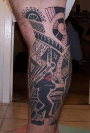 Polynesian Design Lower Leg Tattoo Cool Designs Best Tattoos Picture