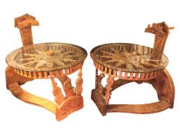 100 Repurposed Table And Chairs Tibetan End S With Spinning Wheels Chairish