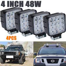 4x 48W LED Flood Beam Square Work Lights Lamp Tractor SUV Truck 4WD ... Truck Lite Led Spot Light With Ingrated Mount 81711 Trucklite Work Light Bar 4x4 Offroad Atv Truck Quad Flood Lamp 8 36w 12x Work Lights Bar Flood Offroad Vehicle Car Lamp 24w Automotive Led Lens Fog For How To Install Your Own Driving Offroad 9 Inch 185w 6000k Hid 72w Nilight 2pcs 65 36w Off Road 5 72w Roof Rigid Industries D2 Pro Flush Mount 1513 180w 13500lm 60 Led Work Light Bar Off Road Jeep Suv Ute Mine 10w Roundsquare Spotflood Beam For Motorcycle