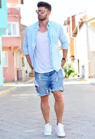 how to wear denim shorts in style this summer the idle man