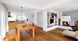 offene küche mit ess und wohnbereich modern esszimmer
