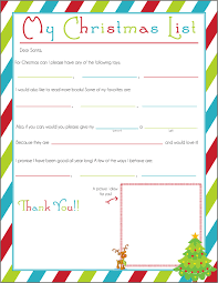 Writing a Letter to Santa Free Printable  e Beautiful Home