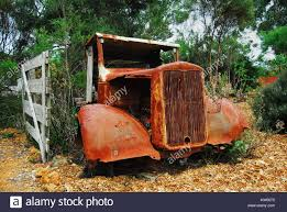 100 Reo Speedwagon Truck Rusting Remains Of 1930s REO Stock Photo
