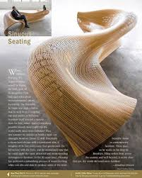 Using Techniques From Boat Building Matthias Pliessnig Is Sculptural Curved Seating By Steam Bending Wood This Technique Highly Used In