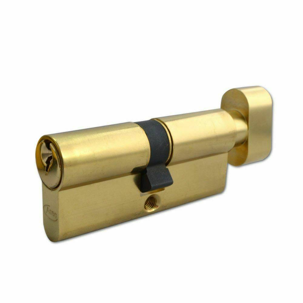 ASEC 5-Pin Euro Key & Turn Cylinder - 70mm 35/T35 (30/10/T30) KD PB