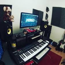 Dedicated Home Studio After Recording Music In A Simple