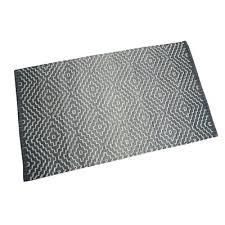tapis coton tisse a plat tapis gris et argent matériau coton wayfair ca