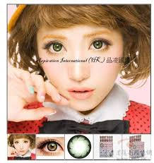 Cheap Prescription Halloween Contacts Canada by Girly Chip Green Colored Contacts Pair Y33 Green 24 99